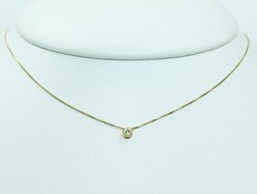 Pocao2005- Colar De Ouro 18k75 Diamante C320