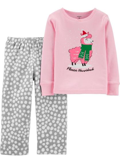 Pijamas Remera Algodon Y Pantalon Micropolar Carters Orig