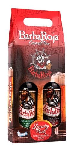 Imagen 1 de 10 de Cerveza Artesanal Barbaroja Estuche Regalo X2 Porrones