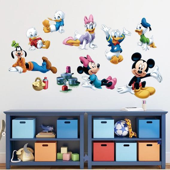 Adesivo De Parede Infantil Turma Do Mickey Minnie Disney