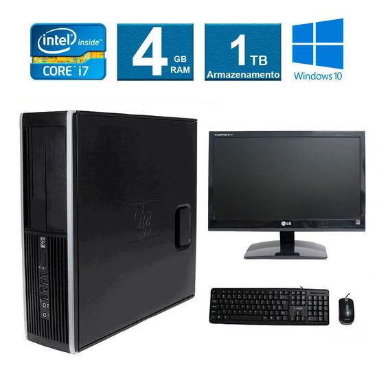 Computador Hp Elite 8200 I7 4gb 1tb Monitor 19 Polegadas