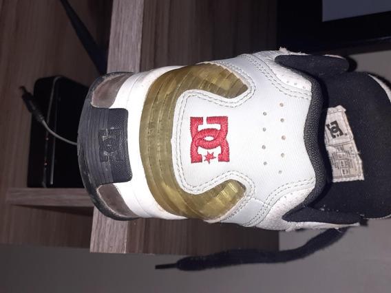 Tenis Dc Shoes Branco E Preto