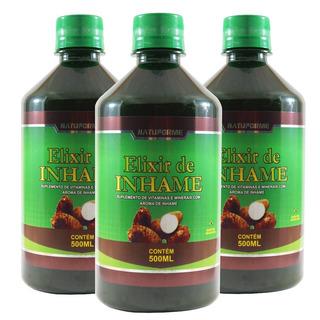 3 Elixir De Inhame 500ml Ovulação Energia Desintoxicação
