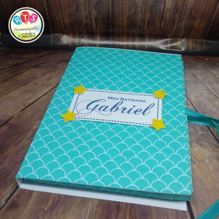Convite Livro Batizado Padrinhos - 1 Un