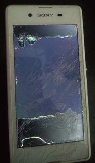 Celular Sony D2212 Funcionando Sem Tela Placa Mãe Logica