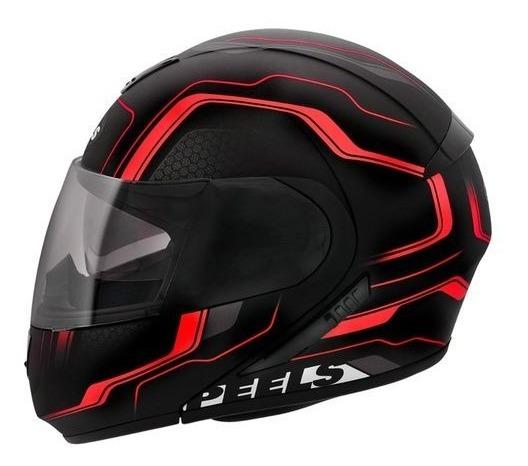 Capacete Moto C Oculos Peels Urban Ultron Robocop Vermelho