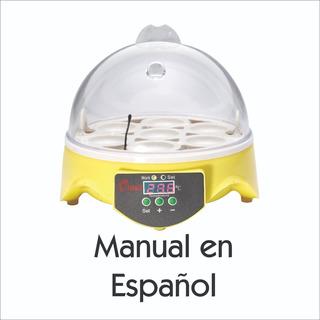 Incubadora 7 Huevos Manual En Español Ultimo Modelo Distribuidor Autorizado Con Refacciones En Mexico