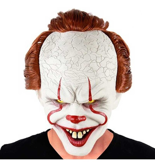 Máscara Látex Payaso It Malo Disfraz Halloween Upd Egresados