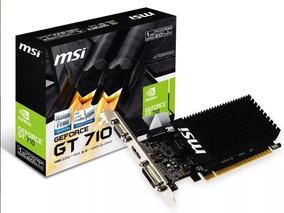 Placa Video Geforce Gt710 1gb Ddr3 64bits Hdmi Vga Dvi-d Lp