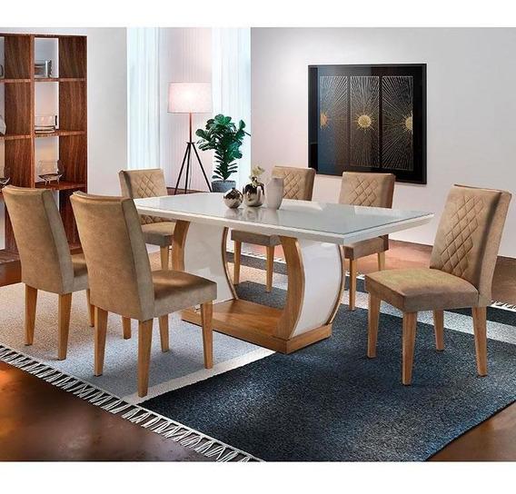 Conjunto De Mesa Com 6 Cadeiras Jade-rufato