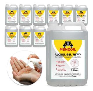 Álcool Gel 70% Antisséptico Galão 5 Litros 10 Unidades