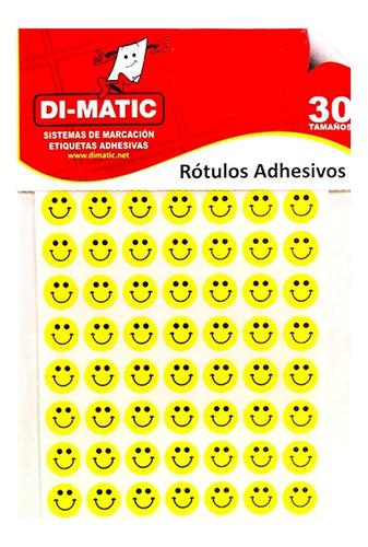 Imagen 1 de 4 de Rótulos Adhesivos, Círculos Carita Feliz Ref 13 Dimatic.