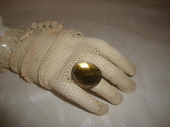 Anel Com Pedra Amarela