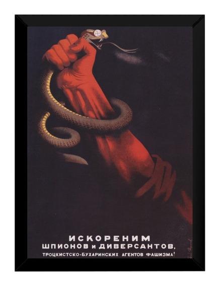Quadro Comunista Soviet Propaganda Ussr Cobra Nazista