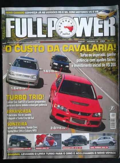 Revista Fullpower Ano 7 N° 78 2008 Lancer Evo Golf Saveiro