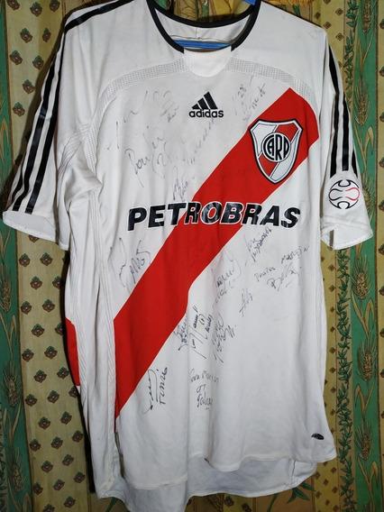 Camiseta De River #11 De Juego Falcao Firmada Por El Plantel