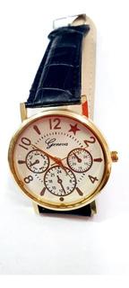 Reloj Análogo Simil Cuero Precio X Unidad