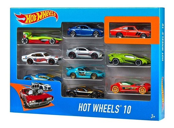 Hot Wheels Pack X10 Autos Surtido Hotwheels Planeta Juguete