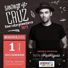 Boleta Concierto Santiago Cruz Bogota Platea 1