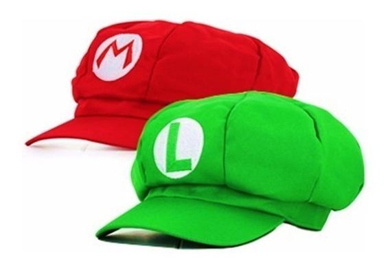 Chapéu Boné Boina Mario Bros E Luigi Cosplay Fantasia
