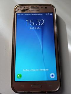 Celular Samsung Galaxy J5 Dourado 16gb Usado