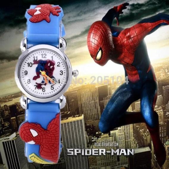 Relógio Pulso Infantil Menino Homem Aranha Super Herói