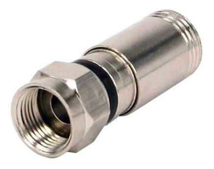 Conector Coaxial De Compressão Rg-06 Eletroexpress
