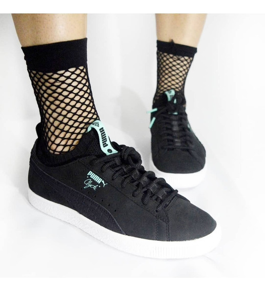 Tênis Puma Clyde Sock Lo Diamond Puma Black