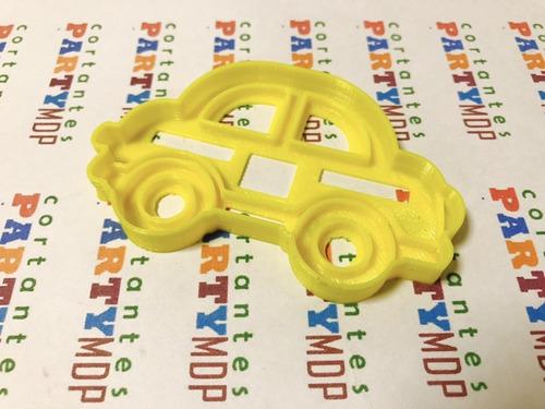 Cortante Galletitas Auto Autitos 06 Cms Ancho Transporte C52