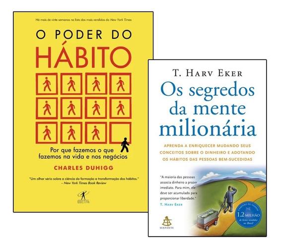 Livros Os Segredos Da Mente Milionária + O Poder Do Habito