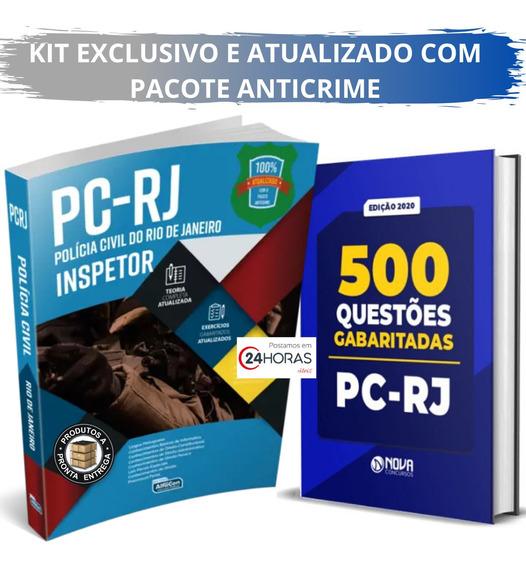 Apostila Inspetor Pc Rj Pacote Anticrime + 500 Questões