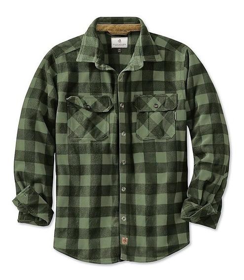Camisa Legendary Polar Verde Tipo Leñador Escocés Talla L