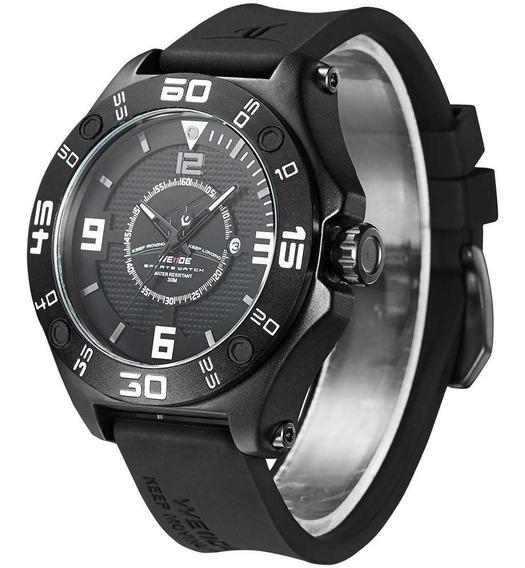Relógio Weide Original Analógico Luxo Barato Preto Promoção