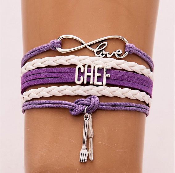 Brazalete Infinito Love Chef Morado