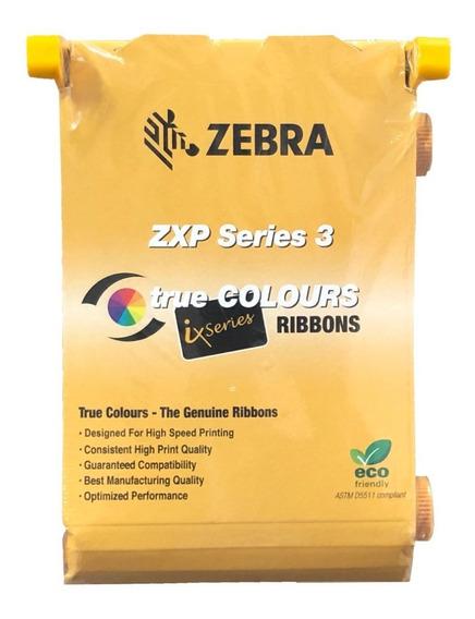 Ribbon Color Ymcko 200 Impr P/ Zebra Zxp3 Cód: 800033-840 *