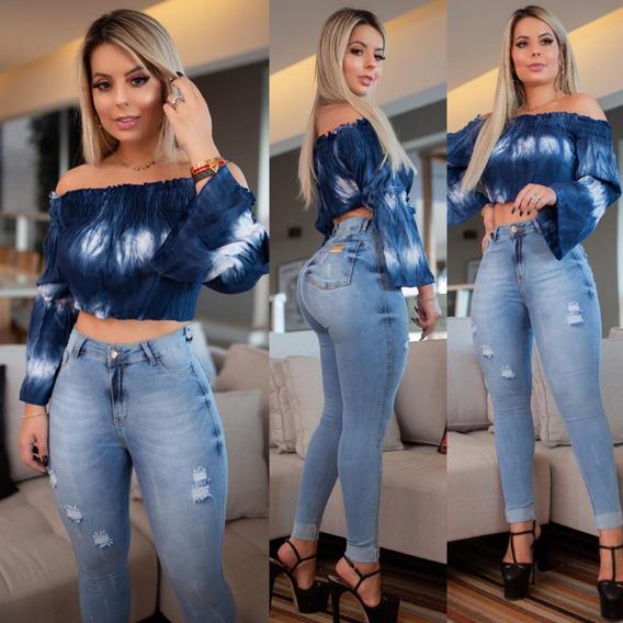 Calça Jeans Modela Bumbum Lançamento Com Muita Lycra Linda