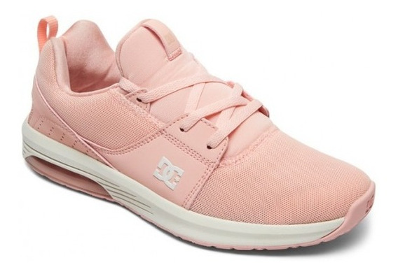 Zapatillas Dc Shoes Mod Heathrow Ia Rosa Blanco Mujer