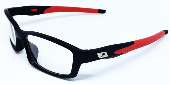 Armação Masculina Esportiva Para Óculos De Grau - Vermelho