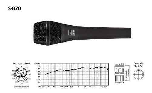 Microfone Waldman S870 Dinamico