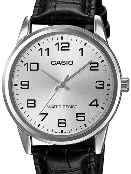 Relógio Casio Masculino Collection Couro -mtp-v001l-7budf-br