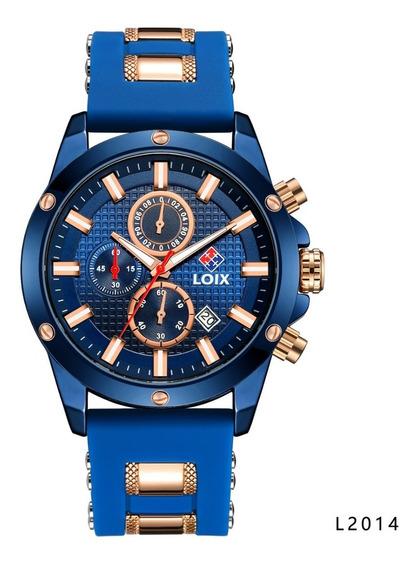 Reloj Loix Hombre De Lujo En Silicona