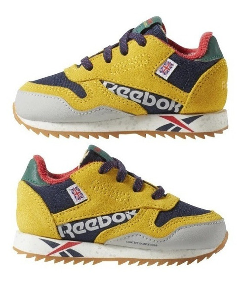 Tenis Reebok Classic Leather Ripple Altered 12cm Y 13cm