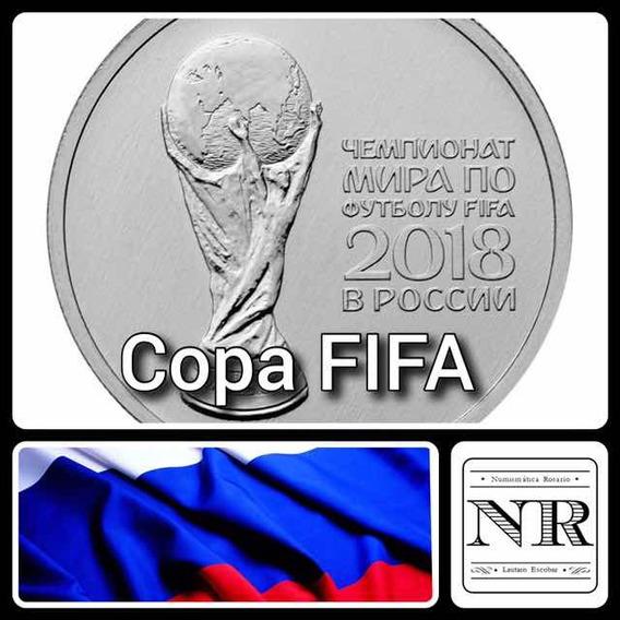 Moneda 25 Rublos Rusia 2018 - Copa Mundial Fifa - Copa