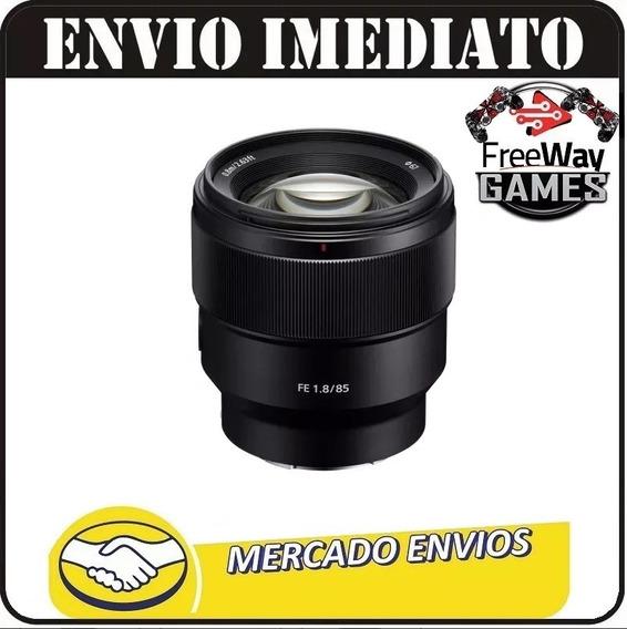 Lente Sony 85mm Fe 1.8 Sel85f18 E-mount + Nfe