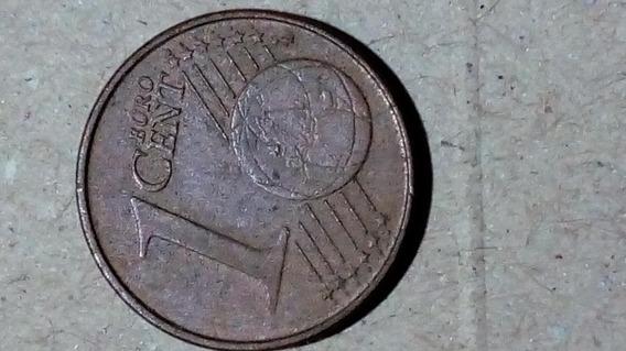 Moeda De 1 Centavo De Euro 2002 Primeiro Ano Portugal