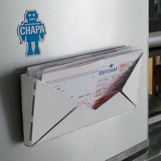 Organizador Sobre Imantado Sello Buen Diseño Chmail Chapa