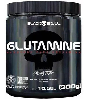 Glutamine - Caveira Preta - 300g - Blackskull