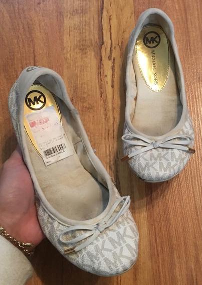 Hermosos Zapatos Flats Michael Kors Mk Signaturen 22.5!!