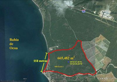 Terreno Con 665,482 Mts2 En Bahia De Ocoa