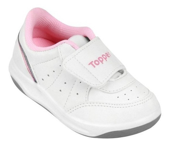 Zapatillas Topper Baby X Forcer Velcro Abrojo Cuero Escolar